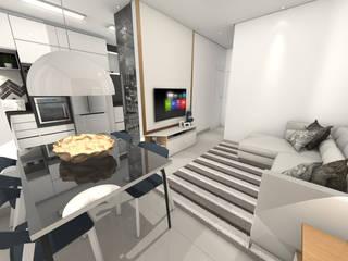 Apartamento Americana/SP Salas de estar modernas por Gustavo Bodini | Designer de Interiores Moderno