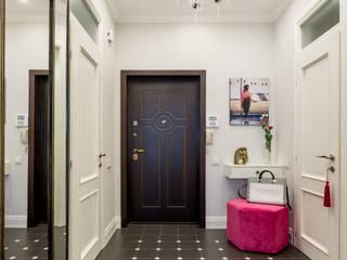 Холл Коридор, прихожая и лестница в эклектичном стиле от N-HOME | Ната Хатисашвили Эклектичный