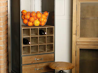 La Boutique Paris Wine cellar Kayu Grey