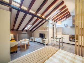 Reforma integral Monteleón Salones de estilo moderno de Arkin Moderno