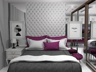 ISADORA MARTEL interiores Chambre classique MDF Blanc