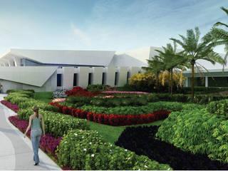 TERMINAL 4 DEL AEROPUERTO DE CACÚN: Jardines de estilo  por David Araiza Pérez DAP Diseño,  Arquitectura  y Paisaje