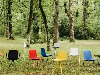 silla de comedor, cocina, colectividades en polipropileno Lottus de Enea en www.lacadira.com:  de estilo  de La cadira