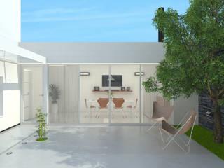 Quincho - Imagén exterior día: Casas de estilo  por LK ESTUDIO
