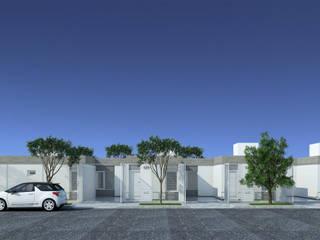 Imagen frente unidades de 50m2: Casas de estilo  por LK ESTUDIO