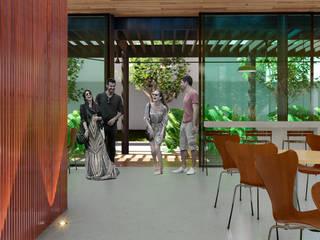 ZEP Arquitetura Ruang Makan Minimalis Beton Grey
