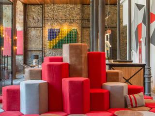 Hotel 55 Rio de Janeiro Hotéis industriais por Jean de Just design de interiores Industrial