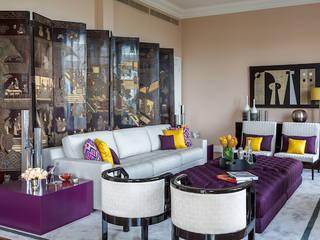 Rio - Apartamento Contemporâneo Salas de estar ecléticas por Jean de Just design de interiores Eclético