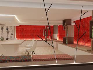 REFORMA DE SÓTANO Salas multimedia de estilo moderno de JUSTO DEL RIO D.I. Moderno