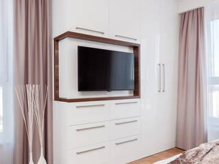 elegancka sypialnia Nowoczesna sypialnia od poliFORMA Nowoczesny