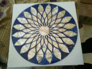 Marble inlay tabletops handicrafts by Touseef international
