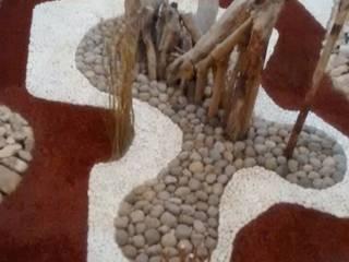HARDSCAPE. JARDINES SECOS  OCCIDENTAL XCARET: Terrazas de estilo  por David Araiza Pérez DAP Diseño,  Arquitectura  y Paisaje