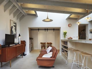 Cooks Kitchen Fraher and Findlay Modern living room Concrete Grey