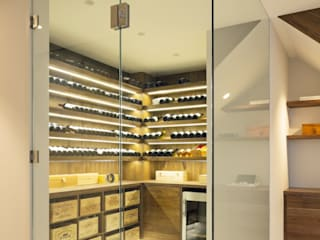 The Sunken Room Fraher and Findlay Modern wine cellar Glass Yellow