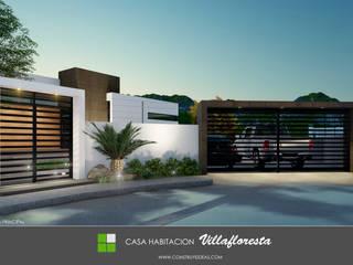 fachada principal: Casas de estilo  por Construye Ideas