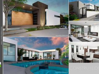 interiores:  de estilo  por Construye Ideas