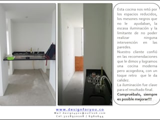 Cocina antes:  de estilo  por Design For You SAS