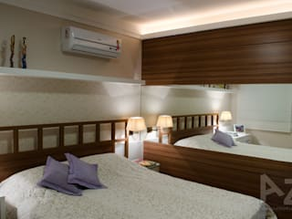 Apartamento Jari I: Quartos  por AZ Arquitetura,Tropical