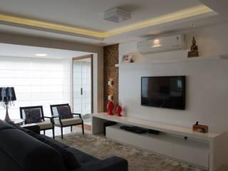 Apartamento Central Park I AZ Arquitetura Salas de estar modernas