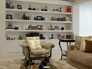 Apartamento Central Park II: Salas de estar  por AZ Arquitetura,Clássico