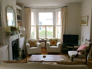 Living Room Shutters Plantation Shutters Ltd Ruang Keluarga Klasik Kayu White