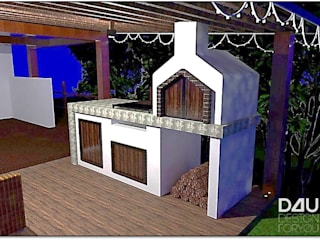 Renders Zona BBQ: Hoteles de estilo  por Design For You SAS