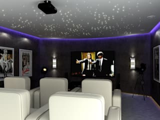 Modern media room by Principia Design Modern