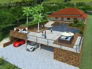Área de Lazer Jardins rústicos por RENATO MELO | ARQUITETURA Rústico