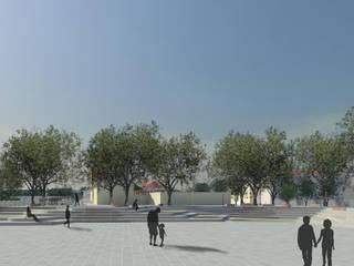 Largo Dom João Jardins modernos por RENATO MELO | ARQUITETURA Moderno
