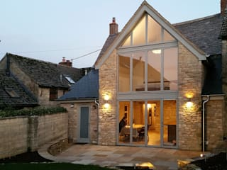 Extension to Grade II listed cottage: modern Houses by AJP Architects Ltd