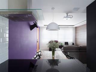 Apartamento Santa Efigênia Cozinhas escandinavas por Daniel Carvalho Arquiteto Escandinavo