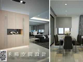 低調是一種內斂:  客廳 by 禾暘空間設計