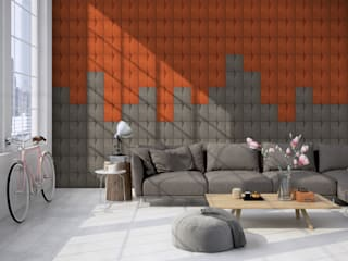 Organic Blocks Collection: Salas de estar  por Muratto | Cork Wall Design ,Escandinavo