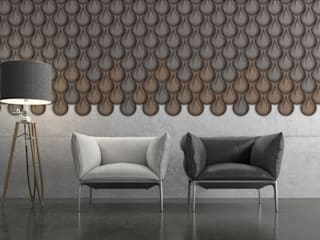 Organic Blocks Collection Espaços de trabalho minimalistas por Muratto | Cork Wall Design Minimalista