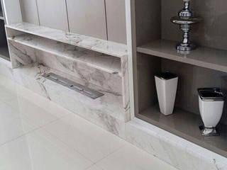 GranParaná Mármores e Granitos Living roomTV stands & cabinets Marmer White