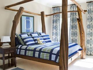 Lorna Gross Interior Design Quartos clássicos Azul