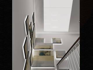 PARAMENTOS ESCALERAS Pasillos, vestíbulos y escaleras de estilo moderno de JUSTO DEL RIO D.I. Moderno