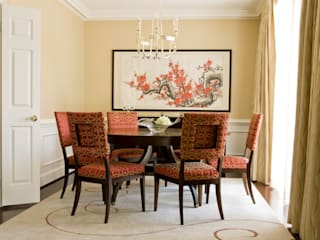 Lorna Gross Interior Design Asian style dining room Red