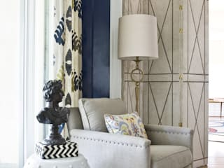 Lorna Gross Interior Design Living room Blue