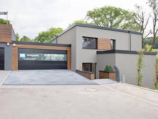 Maison passive hybride construite en béton et bois massif à Mersch (Luxembourg) Maisons Loginter Maisons modernes