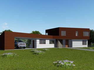 CASA CY Casas estilo moderno: ideas, arquitectura e imágenes de EjeSuR Arquitectura Moderno