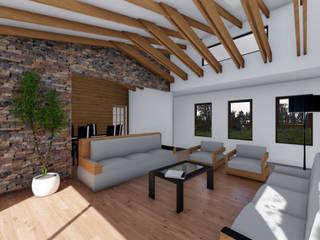 CASA AN Livings de estilo de EjeSuR Arquitectura Rural