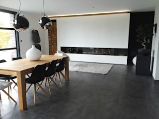 Cheminée gaz par Louis DECOTTEGNIE Moderne