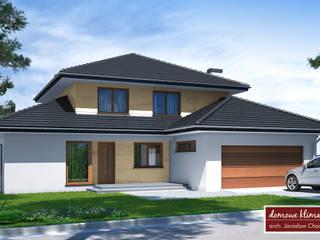 Projekt domu Kaskada T - widok frontowy: styl , w kategorii  zaprojektowany przez Domowe Klimaty J. Charkiewicz