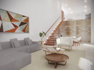 Salão de Festas: Salas de estar  por Cecília Mesquita Arquitetura