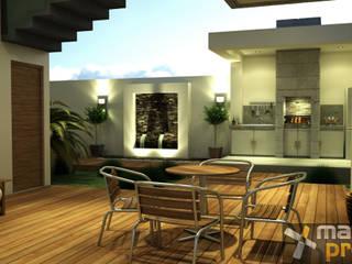 AREA SOCIAL EXTERIOR Casas modernas de Mazpro Arquitectura Moderno