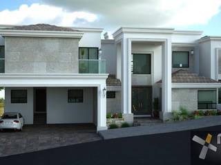 FACHADA PRINCIPAL: Casas de estilo ecléctico por Mazpro Arquitectura