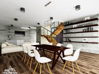 COMEDOR CASA BSC: Comedores de estilo moderno por RM ARQUITECTURA