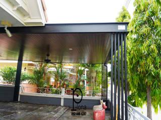 P-lona Modern garage/shed Iron/Steel Black