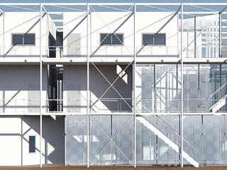 集合住宅: KAWAZOE-ARCHITECTSが手掛けた現代のです。,モダン